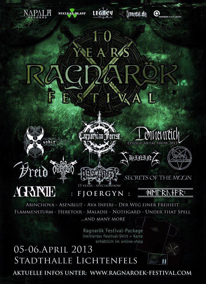 Ragnarök Festival 2013 Lineup